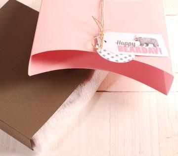 Divertida cajita plana de regalo