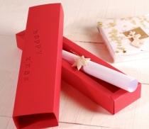 Flat pack pen gift box
