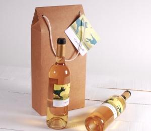 Decorazione scatola grande per vino con manici