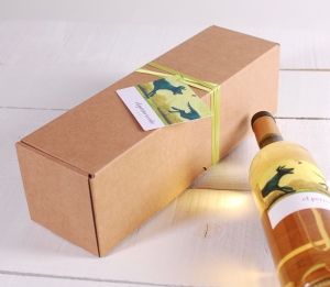 Decorazione scatola per vino allungata