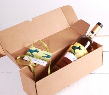 Decoración caja alargada vino