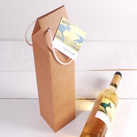 Decoración caja de vino con asa