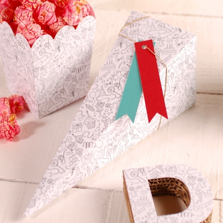 Simple cone-shaped box decoration