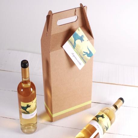 Decoración caja pack de 2 vinos