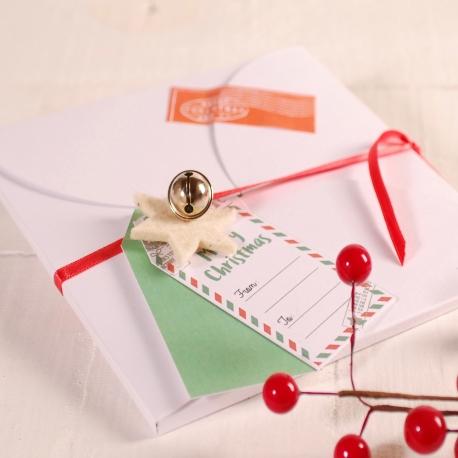 Decoración navideña caja sobre plana