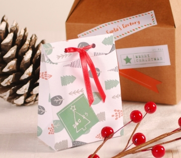 Small long Christmas envelope box decoration