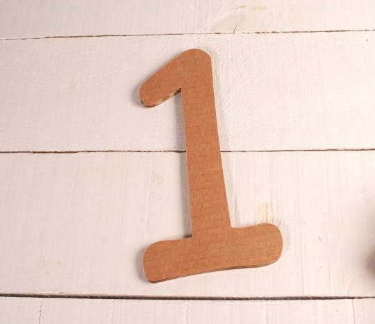 Large cardboard numbers