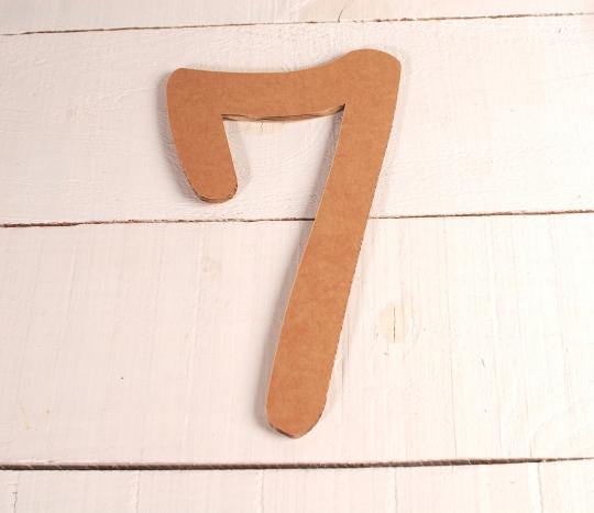 Numeri grandi di cartone