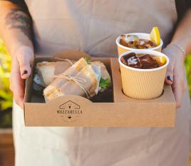Vassoio impilabile per street food