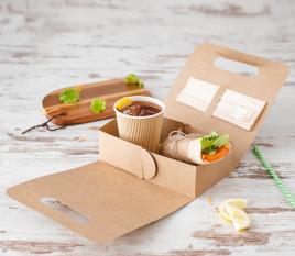Schachtel für Lebensmittel zum Mitnehmen