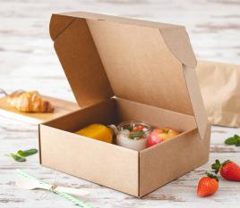 Caja de cartón para desayunos