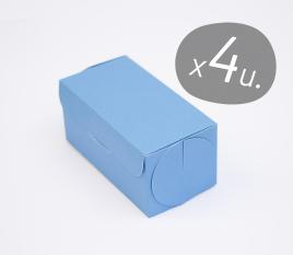 Packung mit 4 Schachteln für Cupcakes mit Kartondeckel
