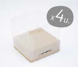 Packung mit 4 quadratischen Schachteln für Cake Pops