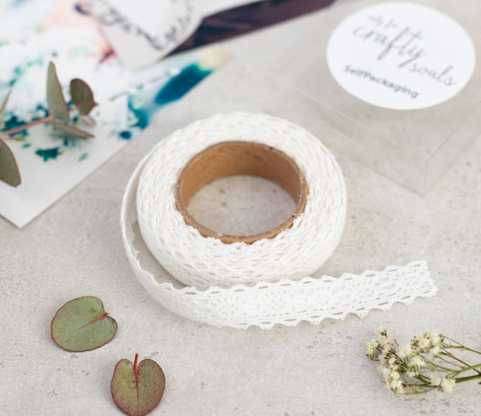 Lace band fabric tape