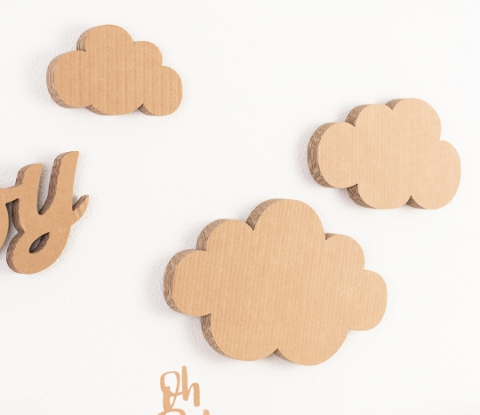 Cardboard clouds