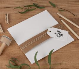 Cartoncini di carta riciclata 16,5 x 16,5 cm
