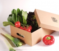 Cardboard box with lid for vegetables