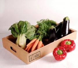 Tablett aus Karton für Obst und Gemüse