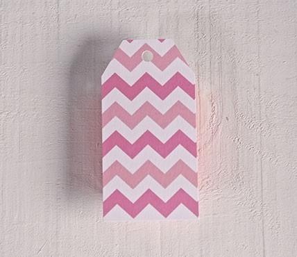 Etiquetas impresas zig-zag rosa