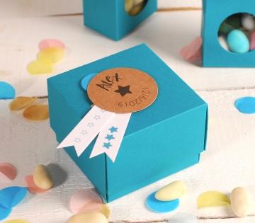 Caja de cartón para peladillas con tapa