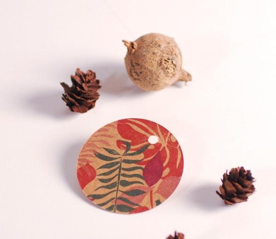 Runde Etiketten Kollektion Blossom