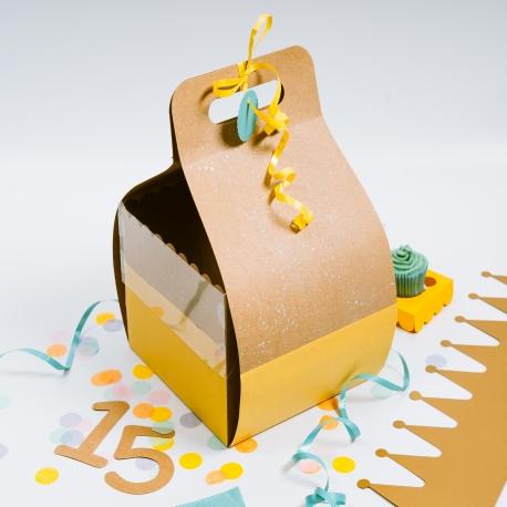 Caja para tarta de cumpleaños