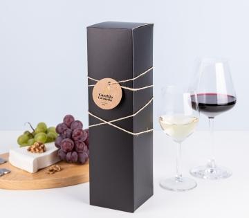 Scatola da vino nero mate