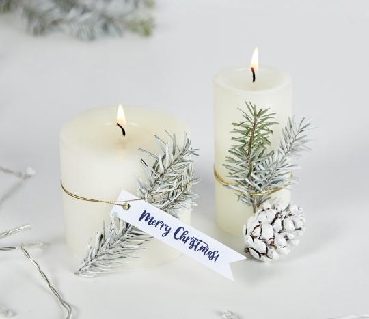 Etiquetas blancas navidad