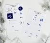Pegatinas navideñas para escribir