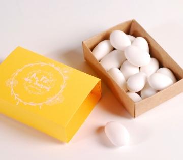 Caja de cerillas amarilla para regalo