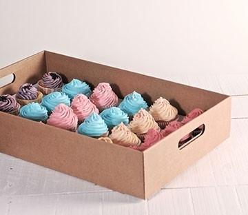 Bandeja de cartón para cupcakes