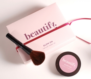 Pink container for cosmetics