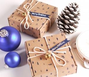 Weihnachtliche Schachtel für das Wichteln
