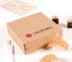 Caja cuadrada de cartón para sushi