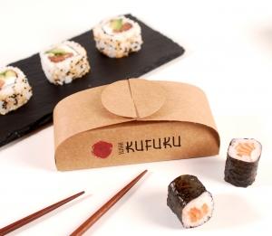 Sushi-Schachtel für drei Stück
