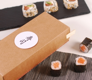 Rectangular sushi box