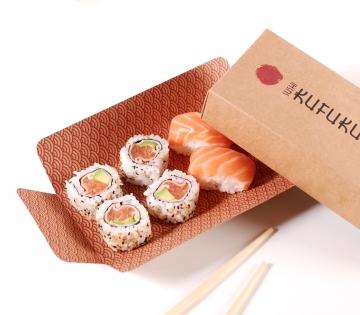 Rectangular sushi box