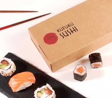 Caja sushi compartimentos