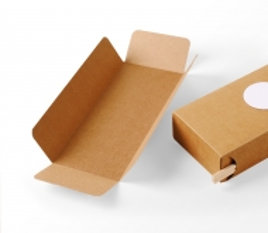 Caja de cartón para sushi con guarda-palillos