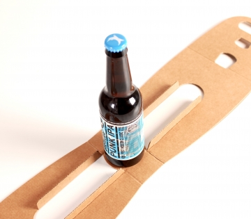Printed box for a single bottle of beer