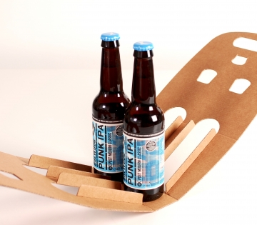 Customisable double beer box