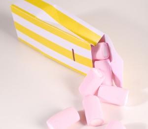 Scatola di cartone personalizzata a forma di sacchetto