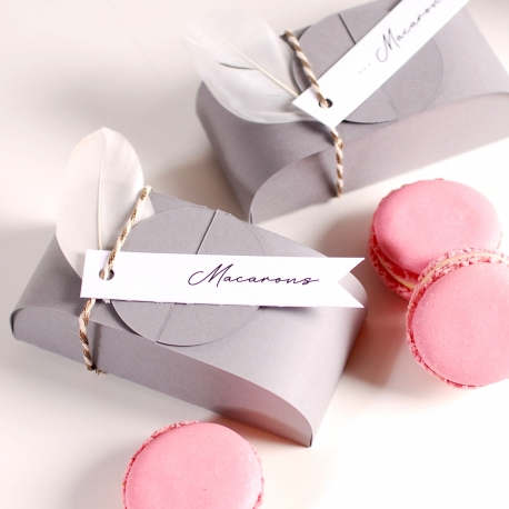 Box for two macaroons