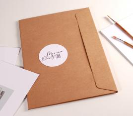 Cardboard shipping folder