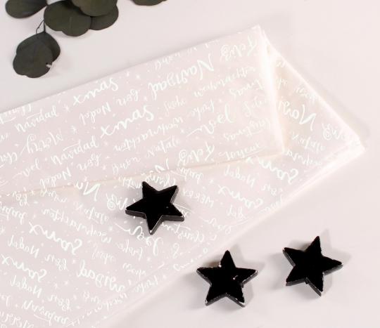 Carta velina bianca a tema natalizio