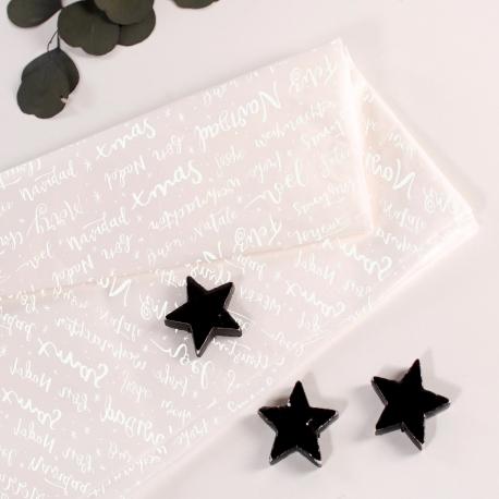 Christmas printed white tissue paper
