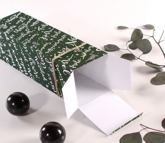 Caja de vino navideña individual
