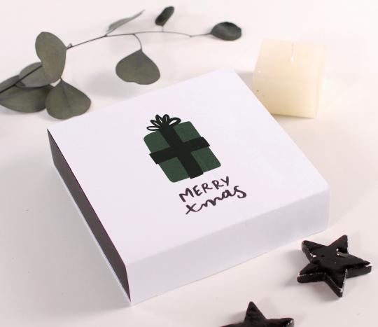 Caja para bombones navideños