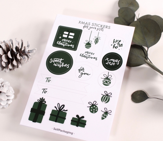 Christmas stickers and labels kit