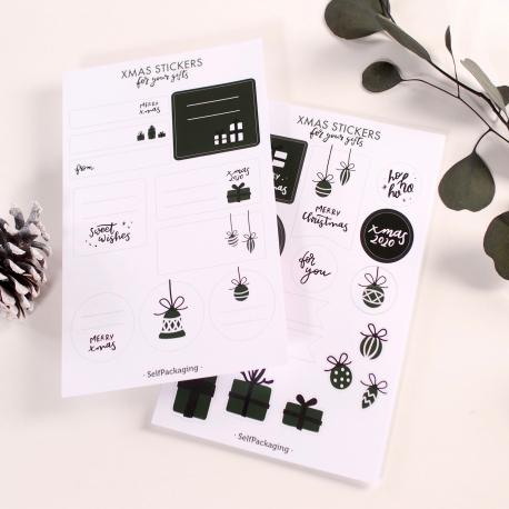 Kit de pegatinas y etiquetas navideñas